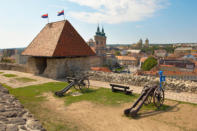 Cannon on the top of Eger Castle walls - Hungary