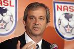 12 April 2012: NASL Commissioner David Downs. The Carolina RailHawks held a Fan Forum at Backyard Bistro in Raleigh, NC.