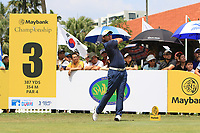 Gavin Green (MAS) in action on the 3rd tee during Round 1 of the Maybank Championship at the Saujana Golf and Country Club in Kuala Lumpur on Thursday 1st February 2018.<br /> Picture:  Thos Caffrey / www.golffile.ie<br /> <br /> All photo usage must carry mandatory copyright credit (© Golffile | Thos Caffrey)