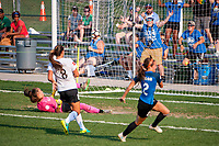 Kansas City, MO - Sunday September 3, 2017: celebrate, celebration, Shea Groom during a regular season National Women's Soccer League (NWSL) match between FC Kansas City and Sky Blue FC at Children's Mercy Victory Field.