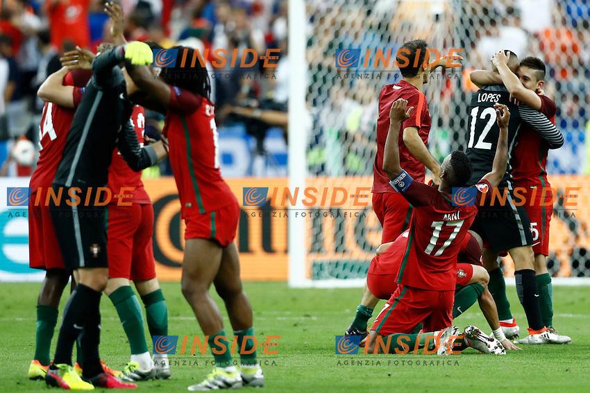 Portugal celebrating the victory. esultanza vittoria<br /> Paris 10-07-2016 Stade de France Football Euro2016 Portugal - France / Portogallo - Francia Final / Finale <br /> Foto Matteo Ciambelli / Insidefoto