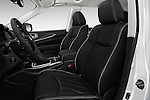 Front seat view of 2017 Infiniti QX60 Hybrid 5 Door SUV Front Seat  car photos