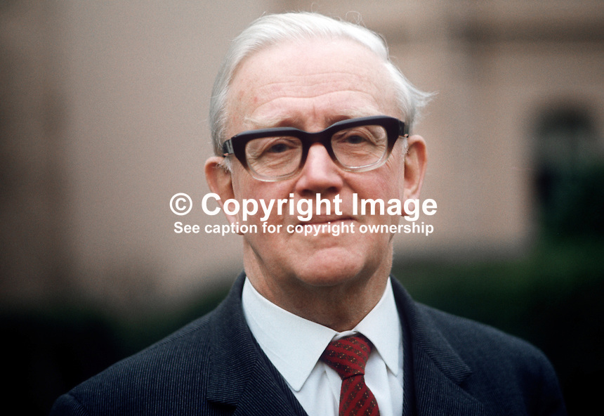 Dr Stuart Hawnt, pro-chancellor, New University of Ulster, N Ireland, December 1971, 197112000543b<br />