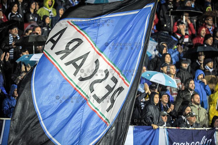 The Pescara flag during the Italian Serie A football match Pescara vs Torino on September 21, 2016, in Pescara, Italy. Photo di Adamo Di Loreto/BuenaVista*photo