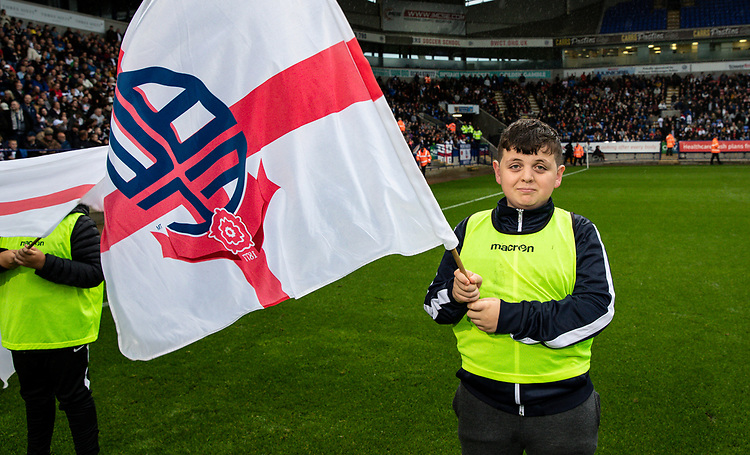 Bolton Wanderers' guard of honour<br /> <br /> Photographer Andrew Kearns/CameraSport<br /> <br /> EFL Leasing.com Trophy - Northern Section - Group F - Bolton Wanderers v Bradford City -  Tuesday 3rd September 2019 - University of Bolton Stadium - Bolton<br />  <br /> World Copyright © 2018 CameraSport. All rights reserved. 43 Linden Ave. Countesthorpe. Leicester. England. LE8 5PG - Tel: +44 (0) 116 277 4147 - admin@camerasport.com - www.camerasport.com