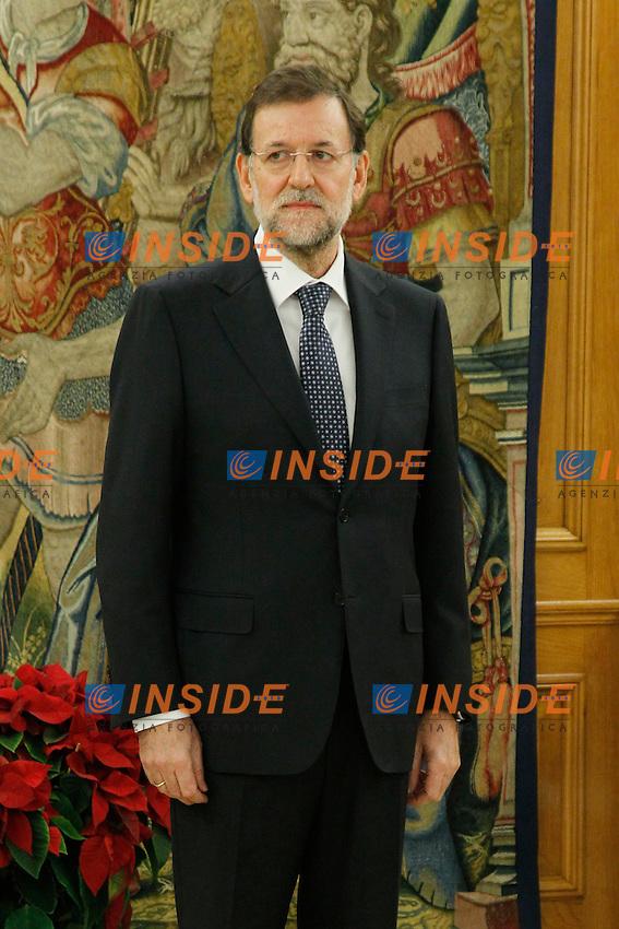 Madrid 21/12/2011.Giuramento del nuovo Primo Ministro Spagnolo Mariano Rajoy a palazzo La Zarzuela. .Foto Insidefoto / Pool / ALFAQUI