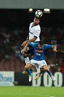 Andrea Petagna Atalanta e Jorge Luiz Frello Jorginho Napoli<br /> Napoli 27-08-2017  Stadio San Paolo <br /> Football Campionato Serie A 2017/2018 <br /> Napoli - Atalanta<br /> Foto Cesare Purini / Insidefoto