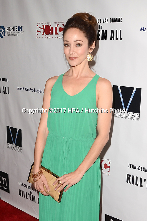 "LOS ANGELES - JUN 6:  Autumn Reeser at the ""Kill 'Em All"" Premiere at the Harmony Gold Theater on June 6, 2017 in Los Angeles, CA"