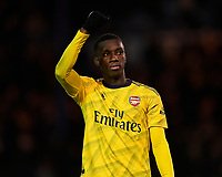 Edward Nketiah of Arsenal acknowledges the Arsenal fans during Portsmouth vs Arsenal, Emirates FA Cup Football at Fratton Park on 2nd March 2020
