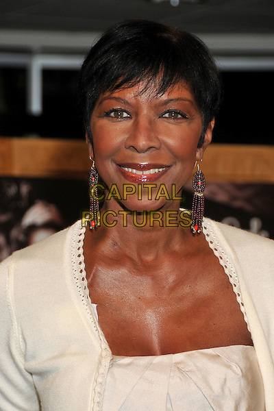NATALIE COLE <br /> Natalie Cole &quot;Still Unforgettable&quot; CD Signing at Borders Bookstore, Westwood, California, USA, <br /> 28 October 2008 <br /> portrait headshot red beaded earrings  cream <br /> CAP/ADM/BP<br /> &copy;Byron Purvis/Admedia/Capital PIctures