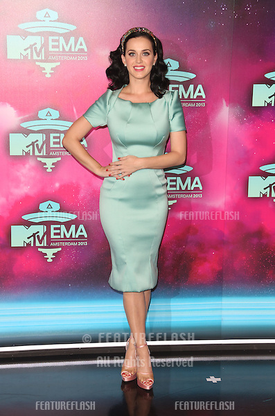 Katy Perry arriving at the MTV EMA awards, Amsterdam, Netherlands. 10/11/20013 Picture by: Henry Harris / Featureflash