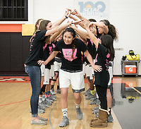 Erin Matsumoto '17. The Occidental College women's basketball team plays against Pomona-Pitzer in Rush Gym on Feb. 15, 2017.<br /> (Photo by Marc Campos, Occidental College Photographer)