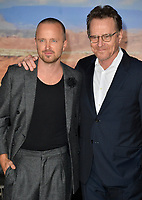 "LOS ANGELES, USA. October 08, 2019: Aaron Paul & Bryan Cranston at the premiere of ""El Camino: A Breaking Bad Movie"" at the Regency Village Theatre.<br /> Picture: Paul Smith/Featureflash"