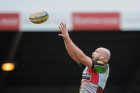 George Robson of Harlequins during the Aviva Premiership match between Harlequins and Bath Rugby at the Twickenham Stoop on Saturday 13th April 2013 (Photo by Rob Munro)