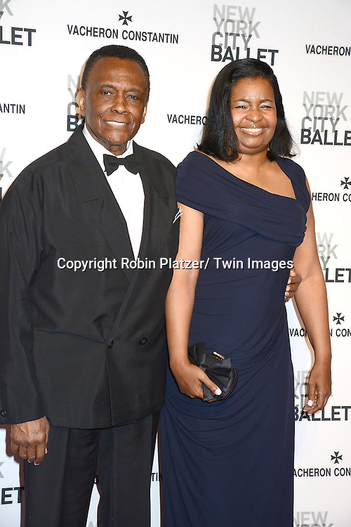 Arthur Mitchell and date attends the New York City Ballet Spring 2014 Gala on May 8, 2014 at David Koch Theatre in Lincoln Center in New York City, NY, USA.