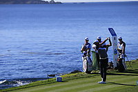 Rafa Cabrera-Bello (ESP) tees off the 7th tee at Pebble Beach course during Friday's Round 2 of the 2018 AT&amp;T Pebble Beach Pro-Am, held over 3 courses Pebble Beach, Spyglass Hill and Monterey, California, USA. 9th February 2018.<br /> Picture: Eoin Clarke | Golffile<br /> <br /> <br /> All photos usage must carry mandatory copyright credit (&copy; Golffile | Eoin Clarke)