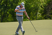 Marc Leishman (AUS) sinks his par putt on 9 during round 1 of the AT&amp;T Byron Nelson, Trinity Forest Golf Club, at Dallas, Texas, USA. 5/17/2018.<br /> Picture: Golffile | Ken Murray<br /> <br /> <br /> All photo usage must carry mandatory copyright credit (&copy; Golffile | Ken Murray)