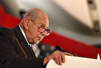 Roma, 19/11/2004<br /> <br /> Manifestazione dello SDI dedicata a Pietro Nenni.<br /> <br /> Nella foto: Giuseppe Tamburrano, presidente della fondazione Pietro Nenni.