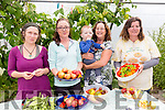 Enjoying the Annual Harvest Day at Shanakill/Rathoonane Comunity Organic Garden on Saturday were Niamh Ni Dhuill, Mary Hagedorn, Marguerite Egan, Arthur Dunne, Christine Best