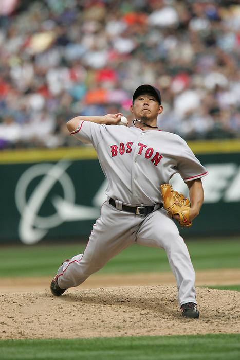 27 June 2007: Daisuke Matsuzaka Seattle Mariners vs Boston Red Sox at Safeco Park in Seattle, Washington.