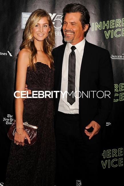 NEW YORK CITY, NY, USA - OCTOBER 04: Kathryn Boyd, Josh Brolin arrive at the 52nd New York Film Festival - 'Inherent Vice' Centerpiece Gala Presentation & World Premiere held at Alice Tully Hall on October 4, 2014 in New York City, New York, United States. (Photo by Celebrity Monitor)