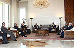Palestinian President Mahmoud Abbas meets with Syrian President Bashar al-Assad, in The Syrian Capital of Damascus.