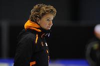 SCHAATSEN: HEERENVEEN: 31-01-2014,  IJsstadion Thialf, Training Topsport, Renate Groenewold (trainer/coach Team Corendon), ©foto Martin de Jong