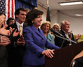 Kathy Hochul takes the stage after being declared the winner of a special election for the NY-26th at UAW Union Hall on May 24, 2011 in Amherst, New York.  Hochul defeated heavily favored Republican candidate Jane Corwin to give the Democrats a seat in the House of Representatives after former representative Christopher Lee resigned amidst a sex scandal.  Photo By Mike Janes/Four Seam Images