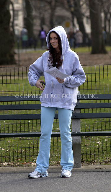 WWW.ACEPIXS.COM . . . . .  ....NEW YORK, MARCH 30, 2005....Lindsay Lohan on the set of 'Just My Luck' filming in Central Park. ....Please byline: KRISTIN CALLAHAN - ACE PICTURES.... *** ***..Ace Pictures, Inc:  ..Craig Ashby (212) 243-8787..e-mail: picturedesk@acepixs.com..web: http://www.acepixs.com