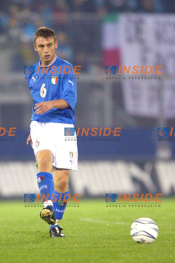 Rieti 19 Novembre 2003 Qualificazioni Campionato Europeo Under 21<br /> Italia Danimarca Under 21 0-0<br /> Daniele De Rossi<br /> Foto Andrea Staccioli Insidefoto