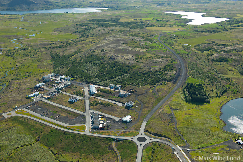 Reynisvatnsás  séð til austurs, Hafravatn og Langavatn í bakgrunni, Reykjavík.  /   Reynisvatnsas viewing east, lake Hafravatn and Langavatn in background, Reykjavik.