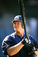 Shane Spencer of the New York Yankees during a game against the Anaheim Angels circa 1999 at Angel Stadium in Anaheim, California. (Larry Goren/Four Seam Images)