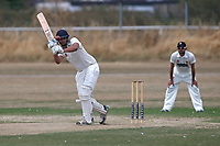 V Handa in batting action for during Oakfield Parkonians CC (batting) vs Wickford CC, Shepherd Neame Essex League Cricket at Oakfield Playing Fields on 4th August 2018