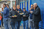 28th September 2017, Goodison Park, Liverpool, England; UEFA Europa League group stage, Everton versus Apollon Limassol; Everton fans enjoying some food before kickoff
