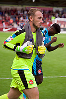 Goalkeeper Alex Cairns of Fleetwood Town during the Sky Bet League 1 match between Northampton Town and Fleetwood Town at Sixfields Stadium, Northampton, England on 12 August 2017. Photo by Alan  Stanford / PRiME Media Images.