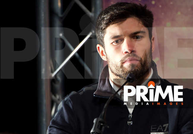 John Ryder during the final press conference ahead of the George Groves v Andrea Di Luisa fight set for Saturday 30th January 2016 at the Copper Box, at Stratford Circus, Theatre Square, England on 28 January 2016. Photo by Alan  Stanford/PRiME Media Images.