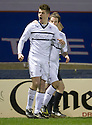 Raith Rovers' Dougie Hill celebrates after he scores the equaliser.