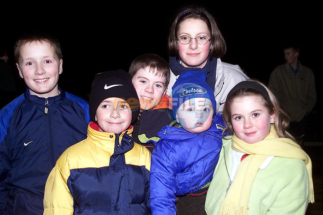 Lisa, Mark and Damien Hoey, Andrew Fox and Graham and Edel Hoey all from Ballymakenny at the fireworks display on New Year's Day..Picture Paul Mohan Newsfile