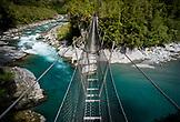 NEW ZEALAND, Hokitika, The Cesspool Swingbridge above the Arahura River, Ben M Thomas