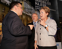 Montreal Mayor Denis Coderre, Quebec Premier Pauline Marois and Minister Jean-Francois Lisee news conference for Carre Saint-Laurent (st Laurent square)<br /> <br /> File Photo : Agence Quebec Presse   -  Pierre Roussel