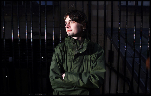 Neil Bickerton, Artist, photographed in Glasgow, at the School of Art ... pic for S2 ..... picture by Donald MacLeod 22.2.02