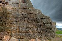 Detail of rockwork, Lezhe Castle, Albania  From 1400's, Adriatic Sea