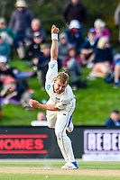 Neil Wagner during Day 3 of the Second International Cricket Test match, New Zealand V England, Hagley Oval, Christchurch, New Zealand, 1st April 2018.Copyright photo: John Davidson / www.photosport.nz