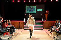 Nora Swann Collection, Piccadilly shoes, New Zealand Eco Fashion Exposed Maintain &amp; Sustain at Notre Dame Performing Arts Centre, Lower Hutt, New Zealand on Friday 25 July 2014. <br />