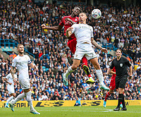 Leeds United's Kalvin Phillips battles with Nottingham Forest's Alfa Semedo<br /> <br /> Photographer Alex Dodd/CameraSport<br /> <br /> The EFL Sky Bet Championship - Leeds United v Nottingham Forest - Saturday 10th August 2019 - Elland Road - Leeds<br /> <br /> World Copyright © 2019 CameraSport. All rights reserved. 43 Linden Ave. Countesthorpe. Leicester. England. LE8 5PG - Tel: +44 (0) 116 277 4147 - admin@camerasport.com - www.camerasport.com