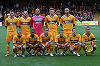 Motherwell starting line-up in the Motherwell v Panathinaikos UEFA Champions League 3rd Qualifying Round 1st Leg match at Fir Park, Motherwell on 31.7.12.