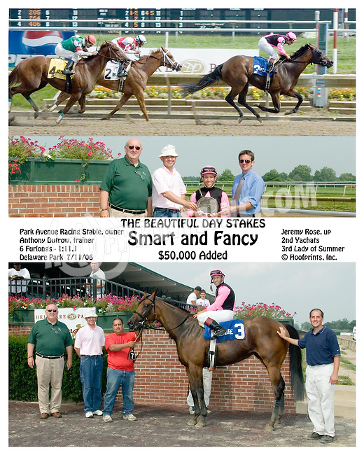 Smart and Fancy winning The Beautiful Day Stakes at Delaware Park on 7/11/06