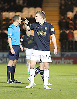 Paul Watson gives instructions at a free kick in the St Mirren v Falkirk Scottish Professional Football League Ladbrokes Championship match played at the Paisley 2021 Stadium, Paisley on 1.3.16.