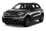 2019 Fiat 500X Cross-S-Design 5 Door SUV Angular Front automotive stock photos of front three quarter view