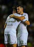 Leeds United's Jack Harrison is consoled after missing his penalty<br /> <br /> Photographer Alex Dodd/CameraSport<br /> <br /> The Carabao Cup Second Round- Leeds United v Stoke City - Tuesday 27th August 2019  - Elland Road - Leeds<br />  <br /> World Copyright © 2019 CameraSport. All rights reserved. 43 Linden Ave. Countesthorpe. Leicester. England. LE8 5PG - Tel: +44 (0) 116 277 4147 - admin@camerasport.com - www.camerasport.com